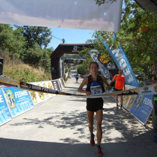 Paula Cabrerizo en la Chandrexa Trail
