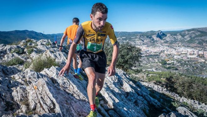 David Belda en el Medio Km Vertical de Alcoy 2018