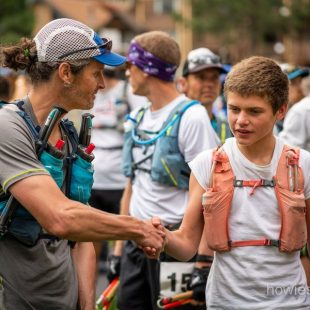 Luke Sanchez en la salida de Ouray 100 2018